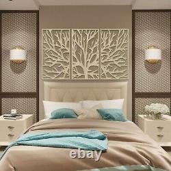 004 Modern Tree of Life 3 panels Wooden Wood Wall Art Decor MDF Oak Ash Gift