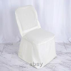 100 pcs Ivory POLYESTER BANQUET CHAIR COVERS Wedding Reception Party Decorations