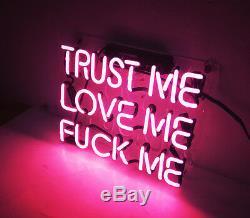 10x10TRUST ME LOVE ME FVCK ME Neon Sign Light Room Hallway Tiki Bar Wall Decor