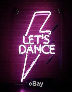 14x7Let's Dance Neon Sign Light Tiki Bar Wall Decor Nightlight Visual Artwork