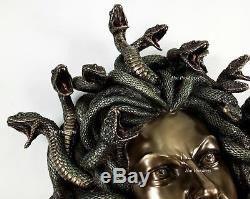 15 Medusa Head of Snakes Gothic Wall Decor Plaque Statue Bronze Finish