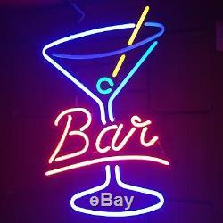 17x14Bar Martini Cup Neon Sign Light Tiki Bar Store Wall Decor Nightlight Gift