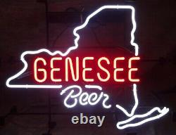 17x14Genesee Beer Rochester New York State Neon Sign Light for Wall Decor Gift