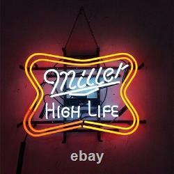 17x14Miller HIGH LIFE Neon Sign Light Beer Bar Pub Wall Hanging Decoration Art