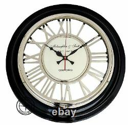 18'' Roman Numerals Round Wall Clock Vintage Replica Decorative Home Office Gift
