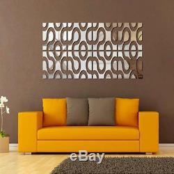 2015 Creative 3D Acrylic Wall Sticker DIY Mirror Wall Stickers Home Decor New