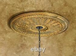 28 DIA Classic Petite Gilt Chandelier Ceiling Medallion DIY Lighting Wall Decor