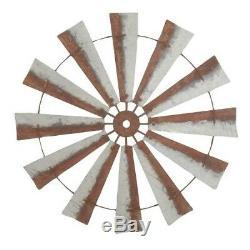 39 Rustic Metal Windmill Head Fan Antique Barn Farmhouse Wall Decor NEW