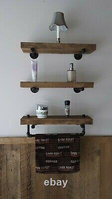 3 Rustic Wooden Floating Shelves Farmhouse Wood Wall Shelf Decor Wall Shelf