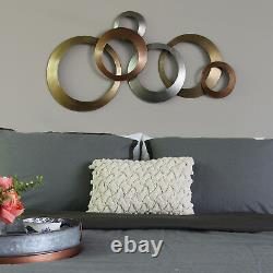 3 tone Metallic Rings Hanging Interior Wall Art Home Decor