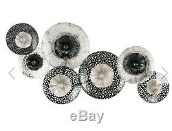 3d Metal Wall Art, black and silver ornate wall decoration brand new large