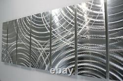 Abstract Modern 3D Metal Wall Art Silver Contemporary Decor by Jon Allen