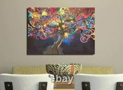 Abstract Tree Stretched Canvas Print Framed Wall Art Home Office Decor Painting