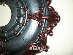 Add A Vintage Flair! Hand Painted Ceiling Medallion Chandelier Fan Wall Decor 18