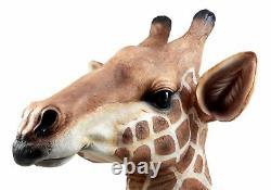 African Safari Long Necked Giraffe Head Wall Decor Scherezade Bust Figurine