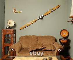 Airplane Propeller WWI 79 Inches Wood Vintage Aviation Wall Decor Assembled