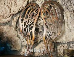 Angel Wings Copper/Bronze Plated Metal Wall Decor large 30 tall