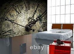 Antique Clock Photo Wallpaper Wall Mural DECOR Paper Poster Wall art