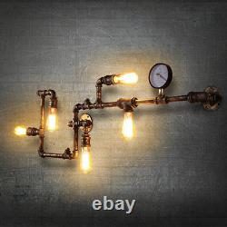 Art Decor Industrial Rustic Steampunk Wall Lamp Retro Metal Pipe Wall Sconces