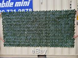 +Artificial Faux Ivy Hedge Privacy Fence Wall Screen, Leaf and Vine Decoration
