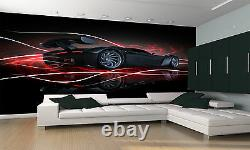 Black Sports Car Wall Mural Photo Wallpaper GIANT DECOR Paper Poster Free Paste