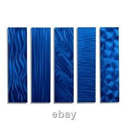 Blue Modern Metal Wall Art Abstract Contemporary Hanging Accent Decor Jon Allen