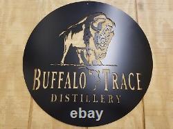 Buffalo Trace Bourbon Metal Wall Art Plasma Cut Home Decor Gift Idea