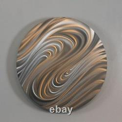 DYNAMIC DESIGN Abstract Silver Metal Wall Art Round Decor by Jon Allen Magnetize