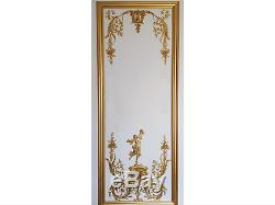 Decorative French Antique Style Louis XVI Gilt Or White Wall Panelling Panel