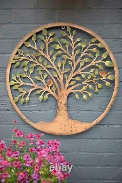 Decorative Tree of Life Metal Wall Plaque Garden Art Home Ornament House Gift