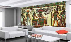 EGYPTIAN PAPYRUS PAINTING Wall Mural Photo Wallpaper GIANT DECOR Paper Poster