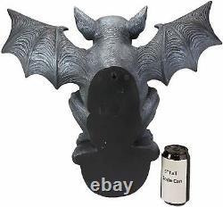 Ebros Large Gothic Winged Gargoyle On Ledge Wall Decor Hanging Sculpture 20W