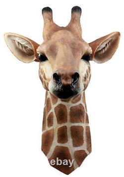 Ebros Safari Giraffe Head Trophy Taxidermy Wall Decor 16.5H