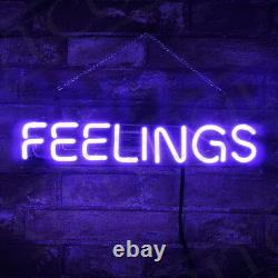 FEELING Purple Neon Sign Light Beer Bar Pub Home Room Wall Decor14''X3'