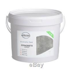 Faux concrete wall Decorative Paint Effect Plaster 100%BIO 14Lt (20 Sqm)