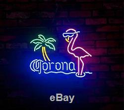 Flamingo Corona Vintage Art Work Neon Light Sign Beer Bar Pub Wall Decor Lamp