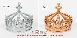 French Style Antiqued Crown Bed Canopy Topper/Royal Princess Bedroom Wall Decor
