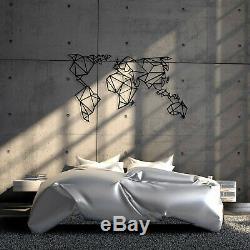 Geometric Metal World Map Luxury Wall Art Decor Wall Decoration
