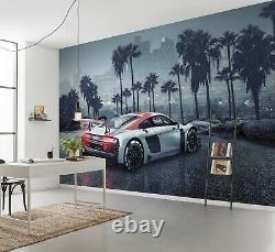 Giant Wall mural Wallpaper Audi R8 in L. A. Chlildren's beedroom DECOR Sports car