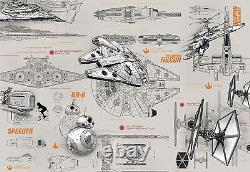 Giant Wall mural photo Wallpaper Star Wars starships chlildrens room paper decor