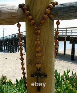 Giant Wood Rosary for Wall Decoration / Catholic / Regligious Gift / Baptis/ 40