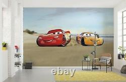 Giant paper wallpaper 368x254cm Cars Race Disney wall mural kids room decor