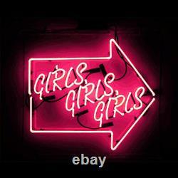 Girls Girls Girls Arrow Neon Sign Light Party Beer Bar Pub Wall Decor Art Gift