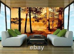 Golden Forest Lake Wall Mural Photo Wallpaper GIANT WALL DECOR Paper Poster