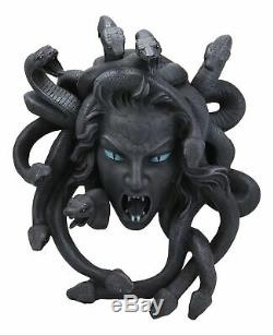 Greek Mythology Gorgon Goddess Medusa Head with Hair of Snakes Wall Decor Plaque