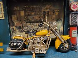 Harley Davidson Motorcycle Metal Model Bottle Opener Key Holder Rack Wall Decor