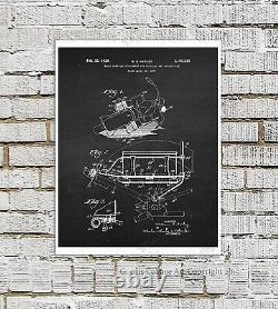 Harley Davidson Patents Posters set of 12 Unframed Wall Art Prints Biker Decor