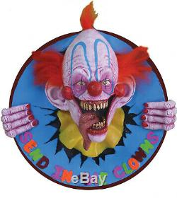 In Stock Halloween Send In The Clowns Wall Plaque 23 Inch Clown Prop