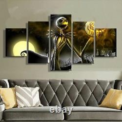 Jack Skellington Nightmare Before Christmas 5 Pieces canvas Wall Art Home Decor