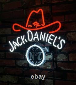 Jk Daaniel's Neon Sign Light Vintage Bar Decor Wall Pub Handmade Artwork